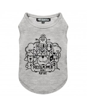 Grey Doodle T-Shirt for Dogs - Milk&Pepper