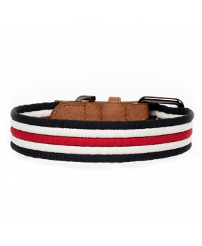 Heritage Dog Collar - Milk&Pepper