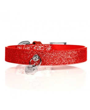 Red Stardust Dog Collar - Milk&Pepper