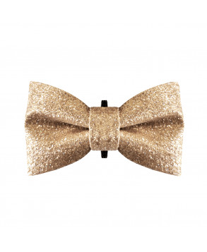 Golden dog bow tie - Milk&Pepper