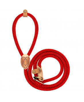 Red django lasso dog leash - Milk&Pepper