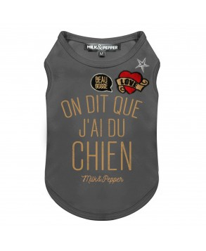 T-Shirt Swanky Anthracite pour chiens - Milk&Pepper